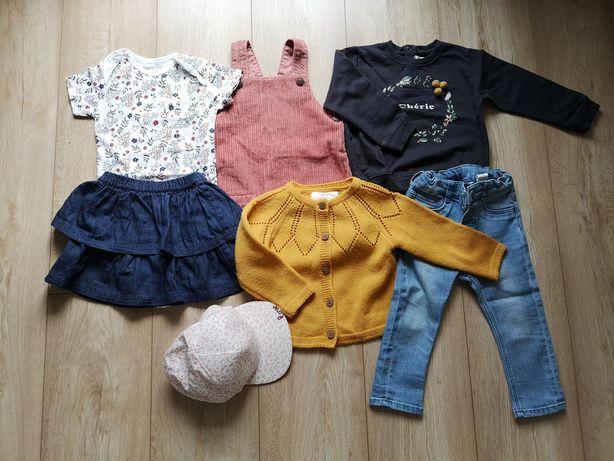 Zestaw dla dziewczynki, H&M, mango, sinsay, F&F, rozmiar 9-12