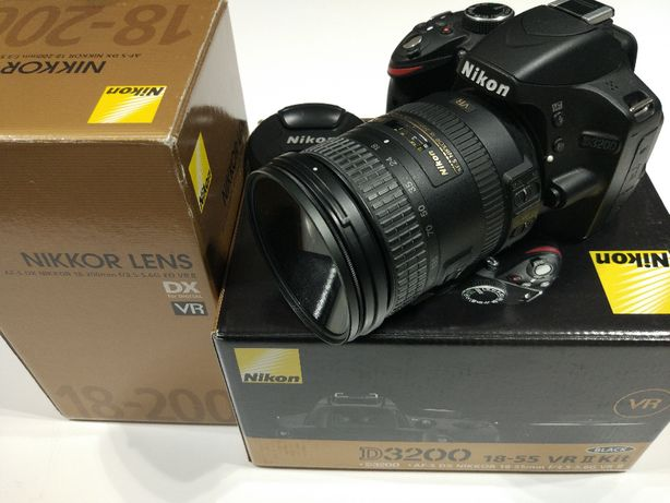 Nikon D3200 com Nikkor 18-200 VRII