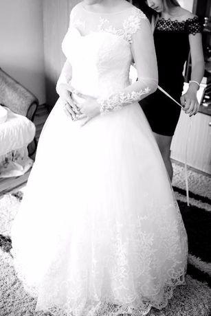 Piękna Suknia Ślubna z Salonu IMpressJA!!! Oraz Przepiękny Welon :)