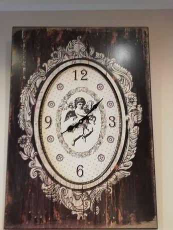 Zegar vintage drewniany duży
