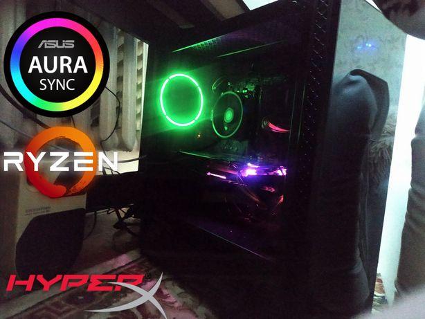 НОВЫЙ! Игровой ПК RGB asus strix gtx 1060 6gb/Amd ryzen 3100/16GB RAM