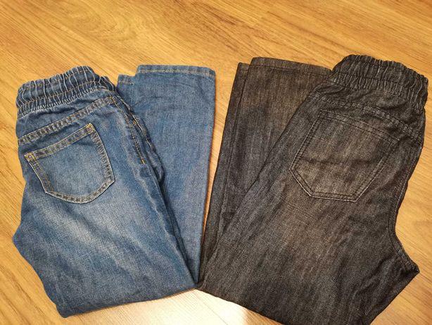 2x Spodnie chłopięce jeans 116, C&A. Prawie nowe