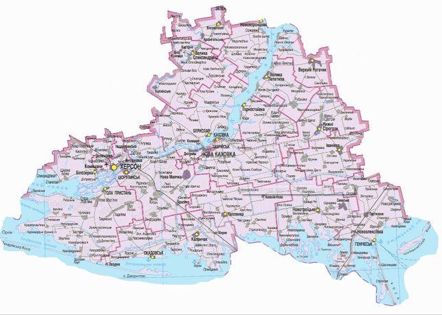 Археологические карты Херсонской области