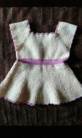 Платье. Вязаное детское платье. Детское платье. Сарафан. 1,6-2 года
