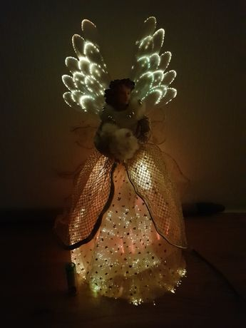 Рождественский ангел/светящийся/Волоконно-оптический Анге