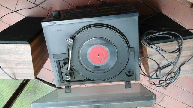 Wieża stereo Sanyo - stara z adapterem
