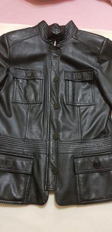Продам итальянский кожаный пиджак