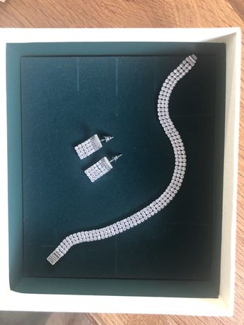 Komplet biżuterii srebrnej z cyrkoniami firmy yes