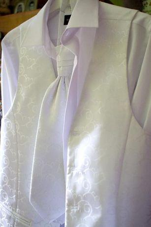 Kamizelka ślubna + krawat rozm.S -48