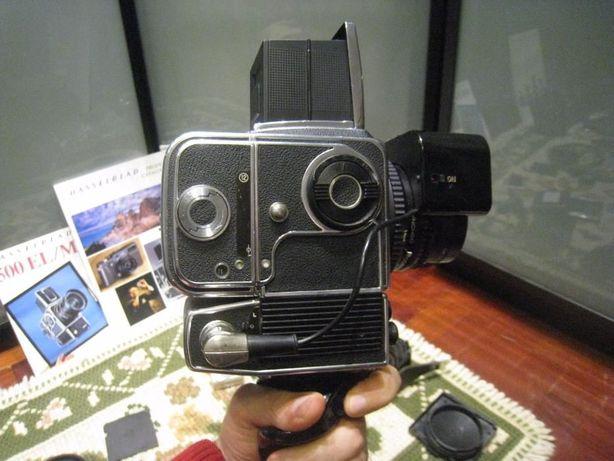 Hasselblad 500EL/M + rara lente com motor Planar 80mm 1:2.8 + extras