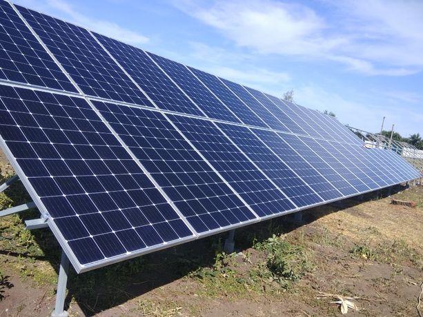 Солнечная станция. Сонячна станція. Зелений тариф. Строительство.