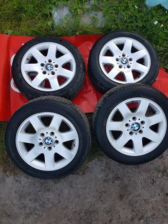 """Felgi BMW 16"""" cali 5x120 z zimowymi oponami Kleber 205/55"""