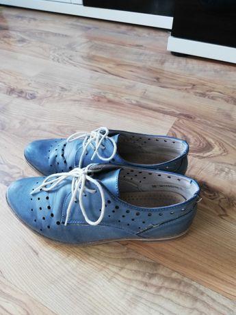 Buty jesienne niebieskie