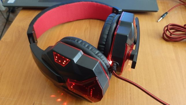 Słuchawki Przewodowy USB 3.5mm LED