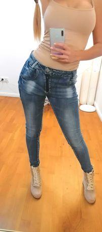 Spodnie dżinsy ciemne S/36