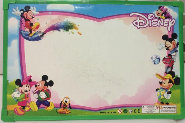 Магнітна дошка дитяча для малювання фломастерами, сухостираєма 44х30см