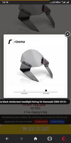 Kawasaki Z800  Лобове скло вітрове скло