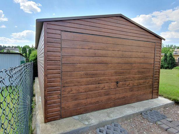 Garaż Blaszany Drewnopodobny Garaże blaszane Wzmocnione Drewnopodobne
