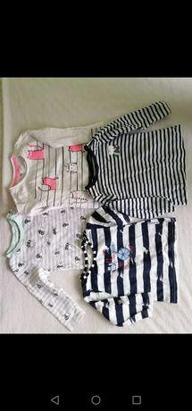 Bluzki bluzeczki dla dziewczynki rozmiar 68