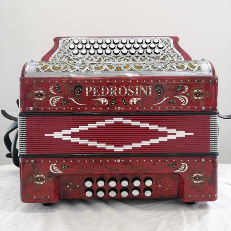 Concertina Pedrosini Sol-Dó-Fá (Vermelha)