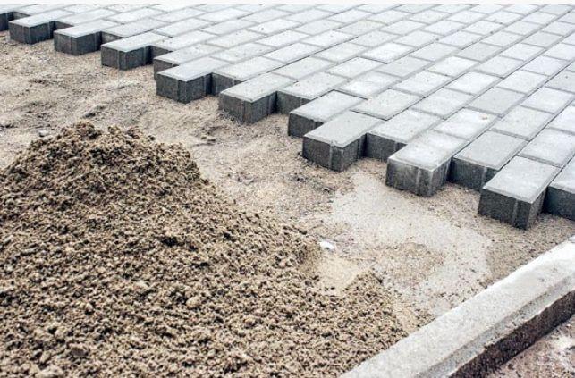 Podsypka cementowa suchy chudy betonowa polbruk kostka beton krawężnik