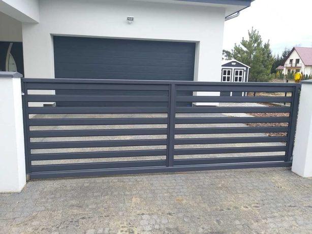 brama wjazdowa przesuwna Model palisada