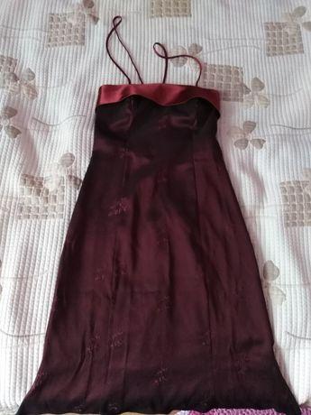 Suknia długa balowa bordo roz. 36