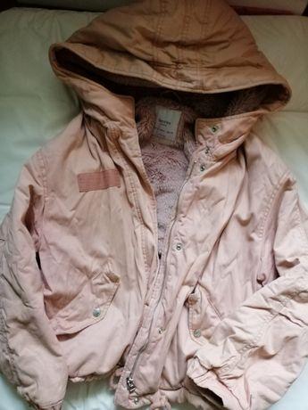 Пуховик,зимняя пудровая куртка bershka