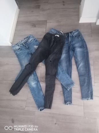 Zestaw 4 szt jeansów za 10zł