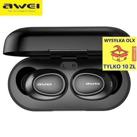 AWEI Słuchawki Bluetooth 5.0 T6 TWS + stacja dokująca czarny