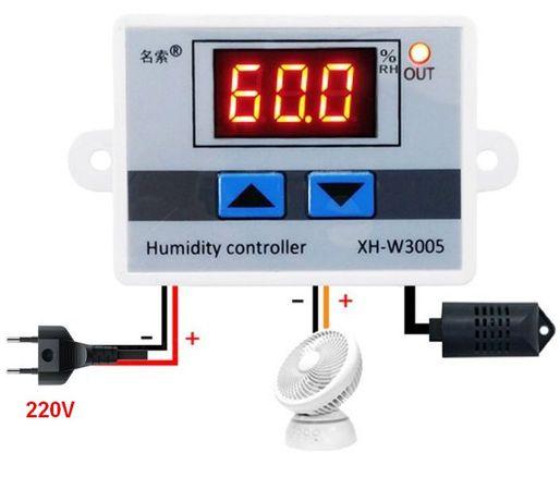 Регулятор влажности. Контроллер влажности XH-W3005. 220V