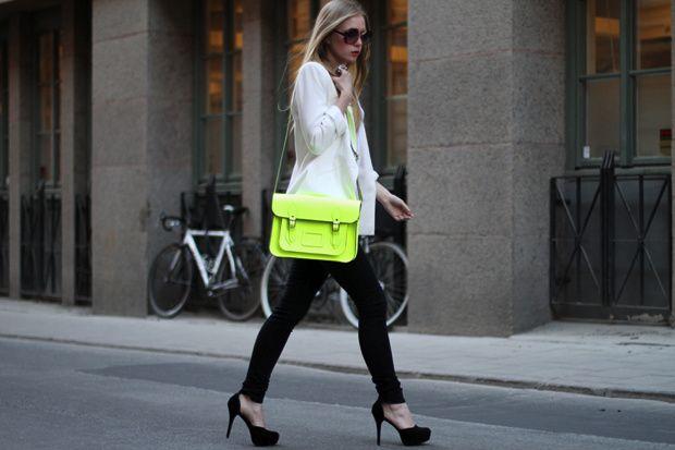 Mala Néon Edição Limitada - carteira bolsa Neon bag