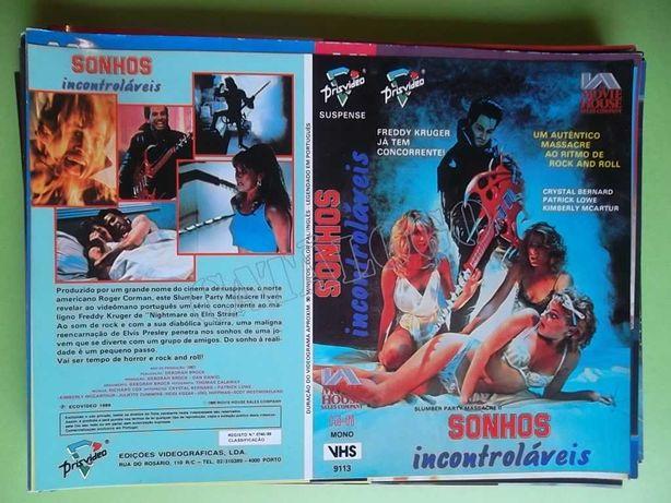 Capas de filmes VHS anos 80