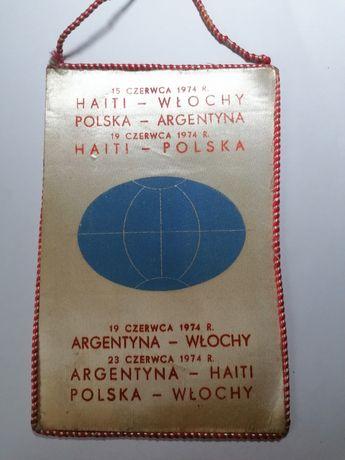 Proporczyk mistrzostwa świata NRF 1974 rzadki WYSYŁKA