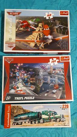 Puzzle Auta i Samoloty 160, ciężarówka 220-£zestaw