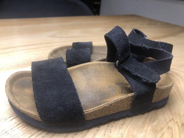 Skórzane sandały r. 28