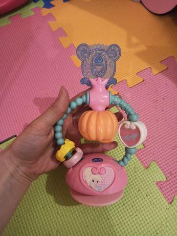 Игрушка на присоске chicco на столик стульчик для кормления чико
