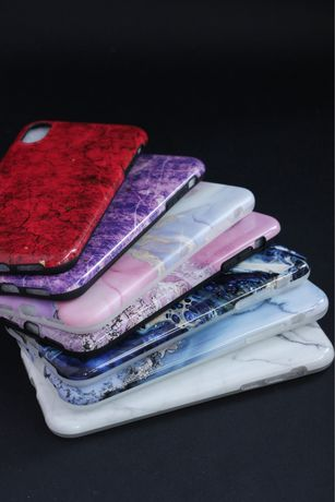 Чехлы на iPhone Xr в мраморном стиле (новые)