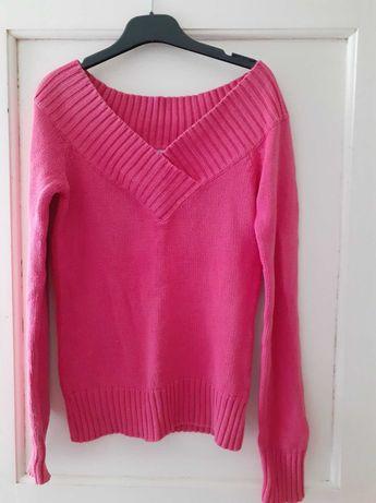camisola cor de rosa com decote V 34/36 sem marcas de uso