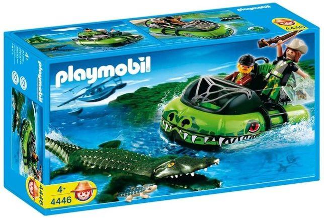 Playmobil 4446 Caçador de Crocodilos em Hovercraft