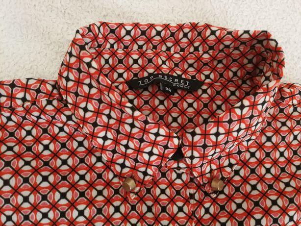 Koszula Top Secret geometryczny wzór 34