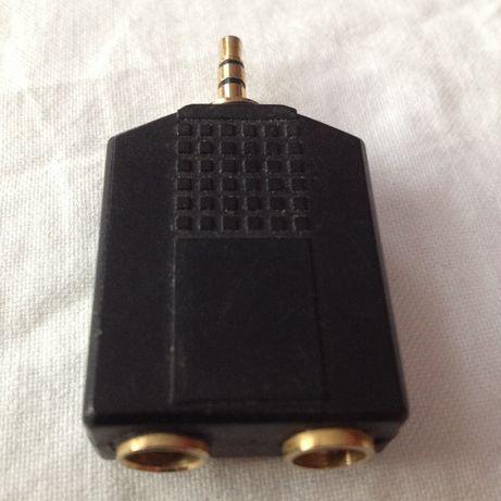 Redukcja Przejściówka Złączka 2xjack 6,3 mm mono/ jack stereo 3,5 m