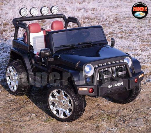 Dwuosobowy Jeep na akumulator 4x4, Wolny start, miękkie koła 999 HAI