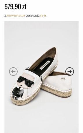 Espadryle buty Karl Lagerfeld białe