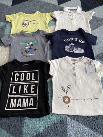 Zestaw bluzek koszulki t shirty na lato Reserved 5 szt 74 nowa z metka