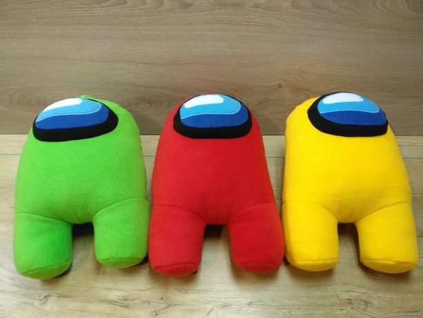 Амонг Ас Космонавт, Все цвета в наличии, Мягкая игрушка Among Us,Амонг