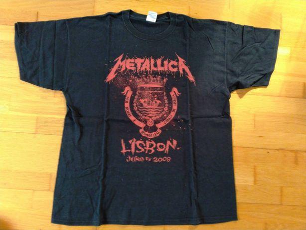 METALLICA T-Shirt Original Rock in Rio - Lisboa 2008 (Tamanho: XL)