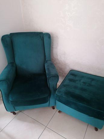 Fotel uszak+podnóżek