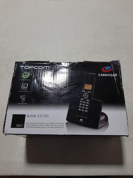 Telefone Portátil sem Fios da marca TOPCOM modelo E2100