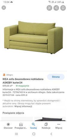 Sofa Ikea  zielona